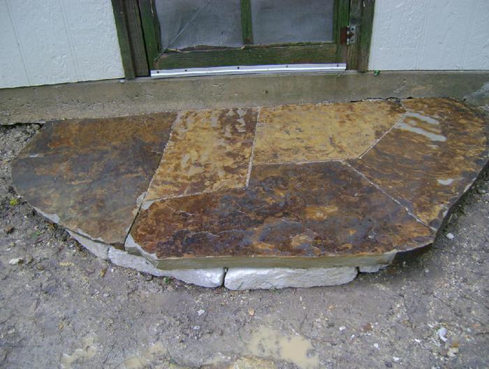 Natural stone laying